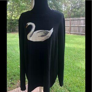 Charter Club swan sweater